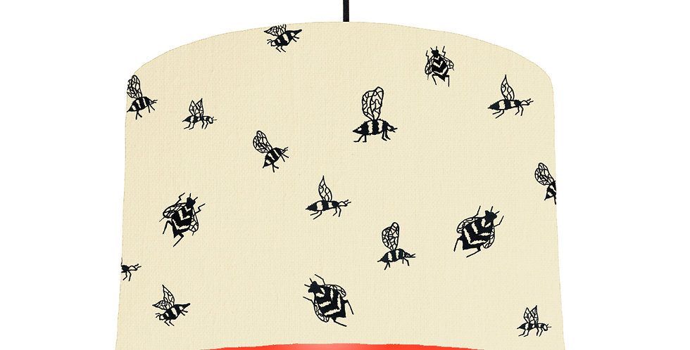 Bumble Bee Lampshade - Natural & Poppy Red