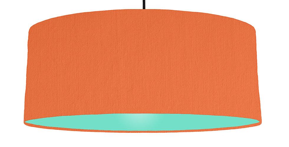 Orange & Mint Lampshade - 70cm Wide