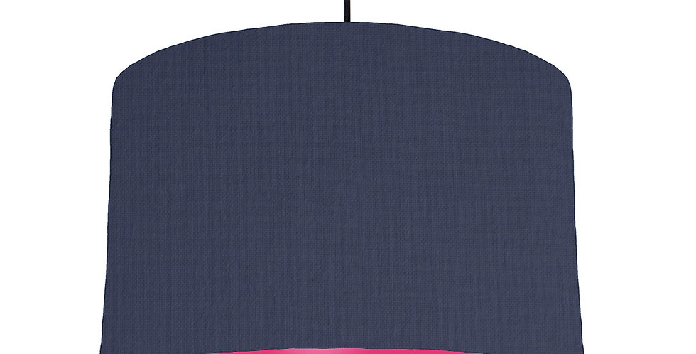 Navy Blue & Magenta Lampshade - 40cm Wide