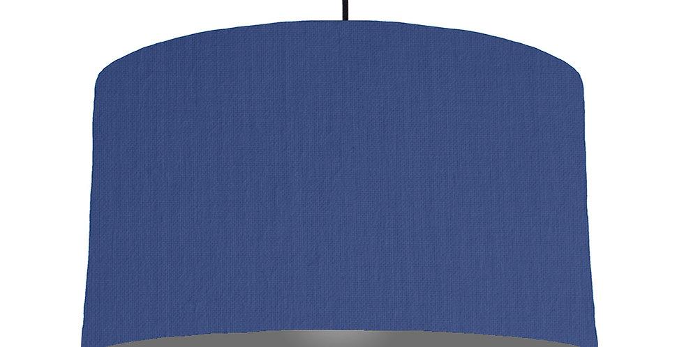 Royal Blue & Dark Grey Lampshade - 50cm Wide