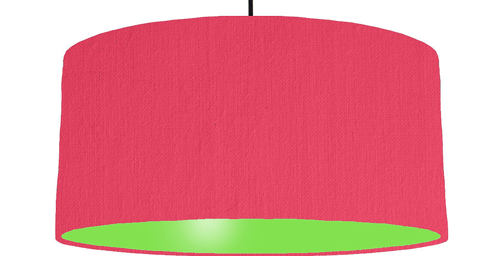 Cerise & Lime Green Lampshade - 60cm Wide