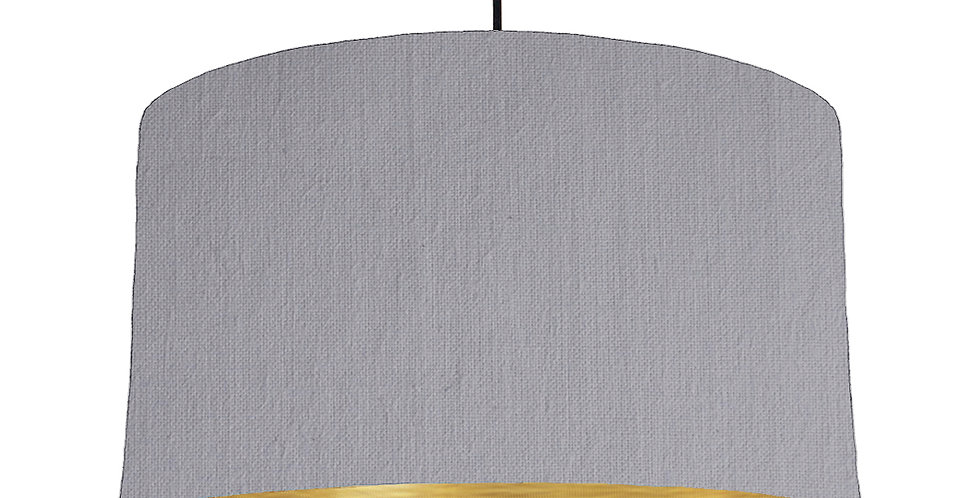 Light Grey & Brushed Gold Lampshade - 50cm Wide