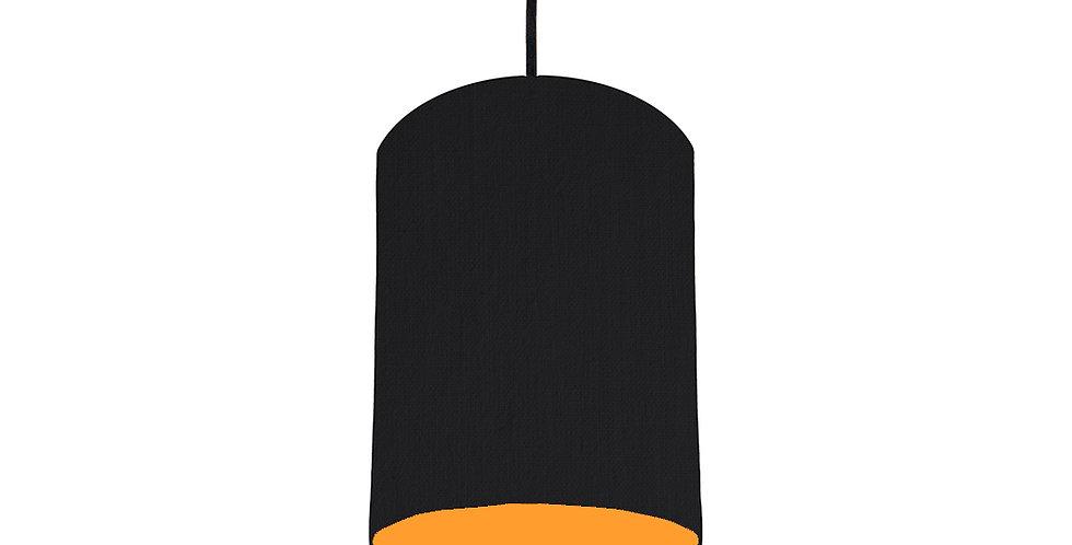 Black & Orange Lampshade - 15cm Wide