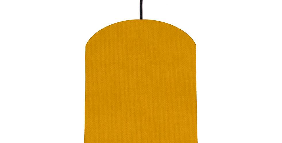 Mustard & Silver Matt Lampshade - 20cm Wide