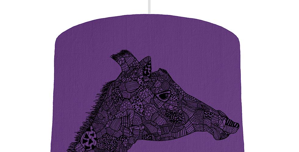 Giraffe Shade - Violet Fabric