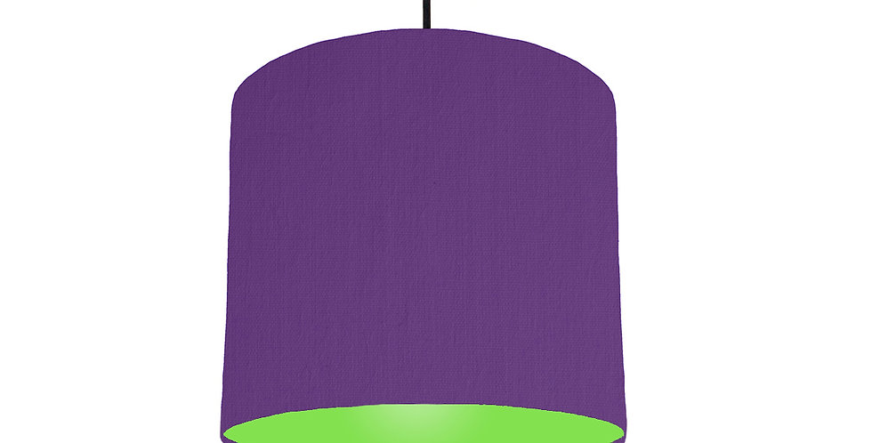 Violet & Lime Green Lampshade - 25cm Wide