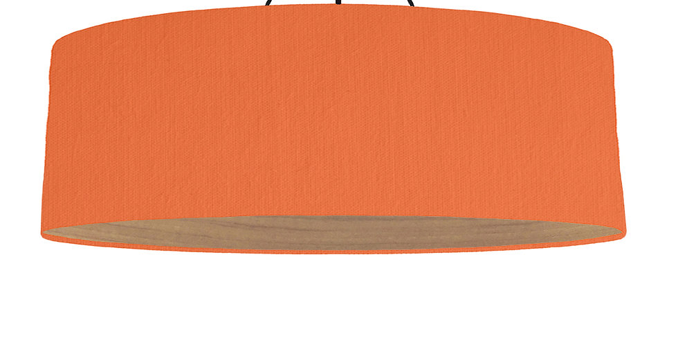 Orange & Wooden Lined Lampshade - 100cm Wide