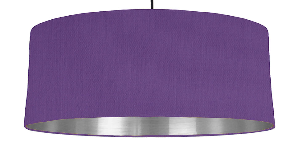 Violet & Silver Mirrored Lampshade - 70cm Wide