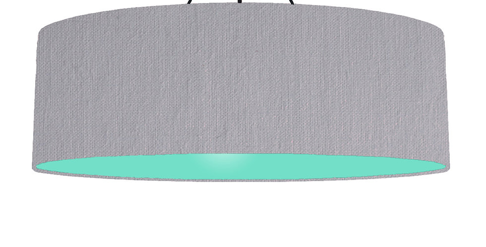 Light Grey & Mint Lampshade - 100cm Wide