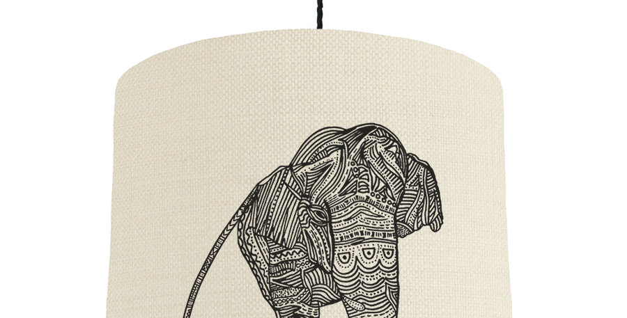 Elephant- Natural & Brushed Silver Lining