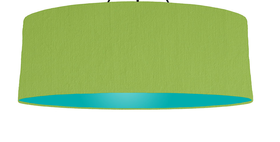 Pistachio & Turquoise Lampshade - 100cm Wide