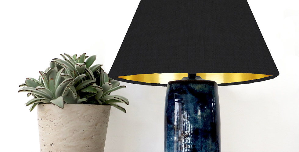 Conical Lampshade (15Tx45Bx30H) - Gold Mirror Lining