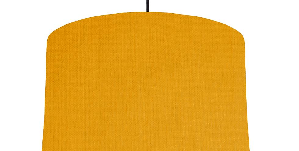 Mustard & White Lampshade - 40cm Wide