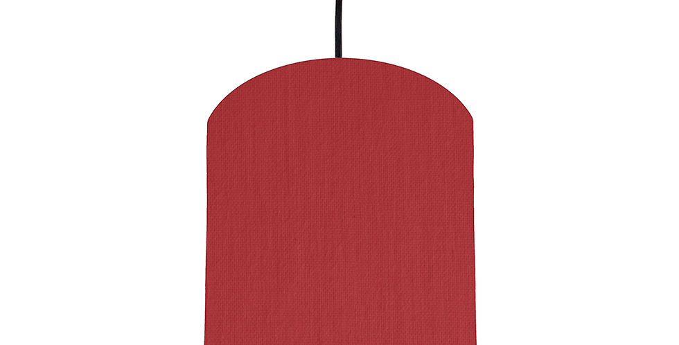 Red & White Lampshade - 20cm Wide