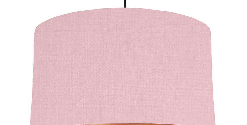 Pink & Brushed Copper Lampshade - 50cm Wide