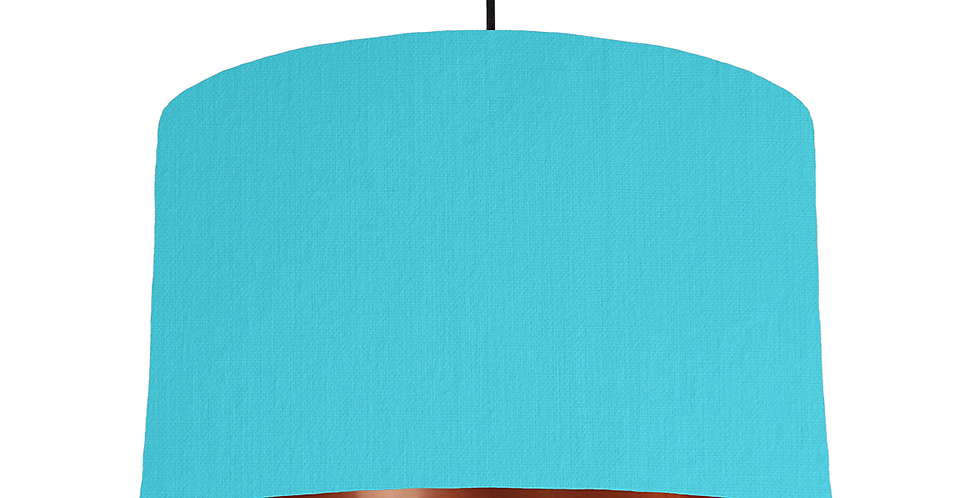 Turquoise & Copper Mirrored Lampshade - 40cm Wide