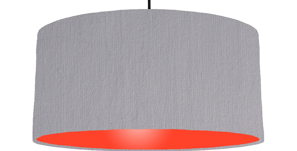 Light Grey & Poppy Red Lampshade - 60cm Wide