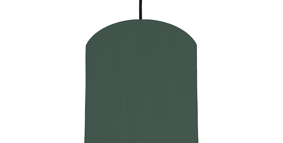 Bottle Green & Poppy Red Lampshade - 20cm Wide