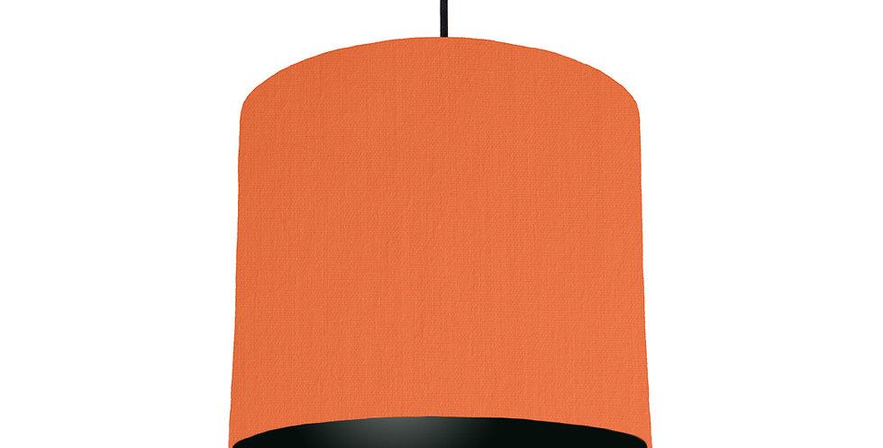 Orange & Black Lampshade - 25cm Wide