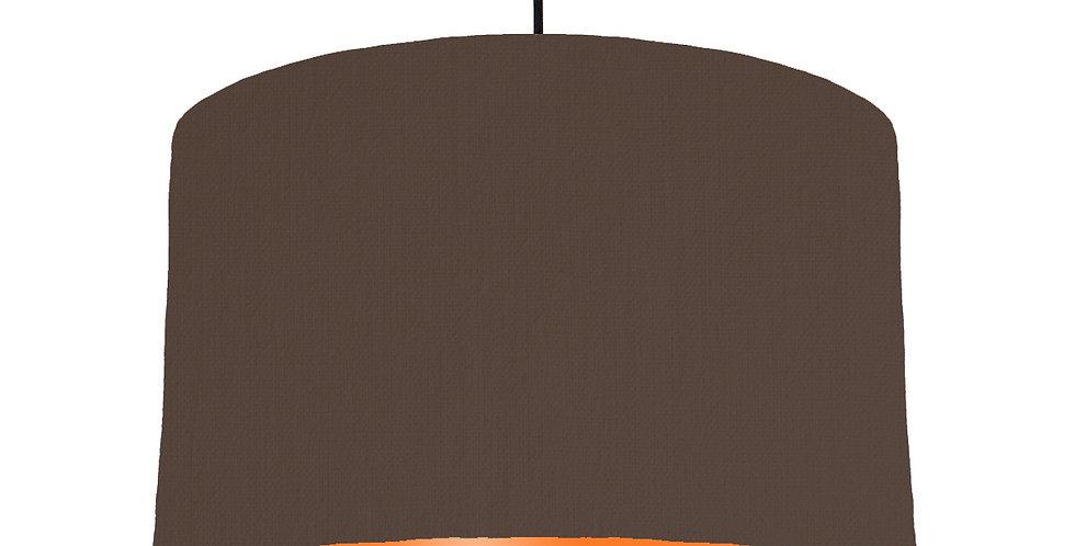 Brown & Orange Lampshade - 40cm Wide