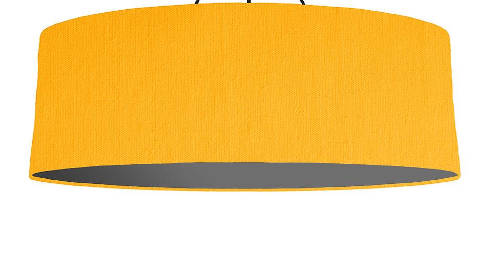 Sunshine & Dark Grey Lampshade - 100cm Wide