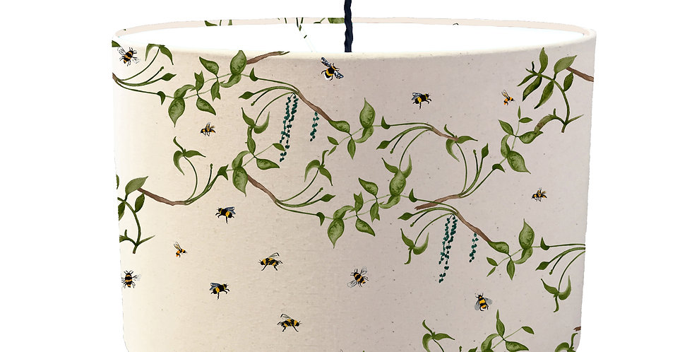 Busy Bee Lampshade - White Lining