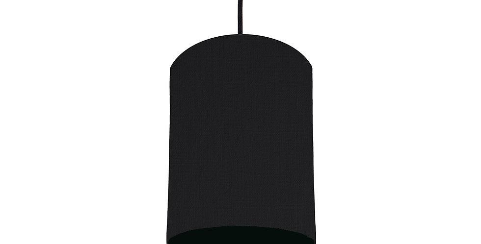 Black & Black Lampshade - 15cm Wide