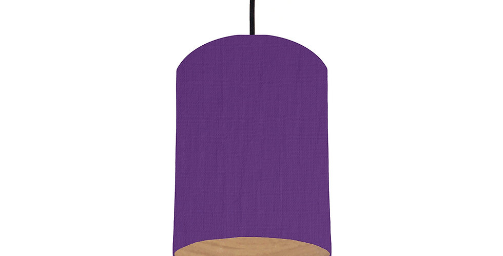 Violet & Wood Lined Lampshade - 15cm Wide