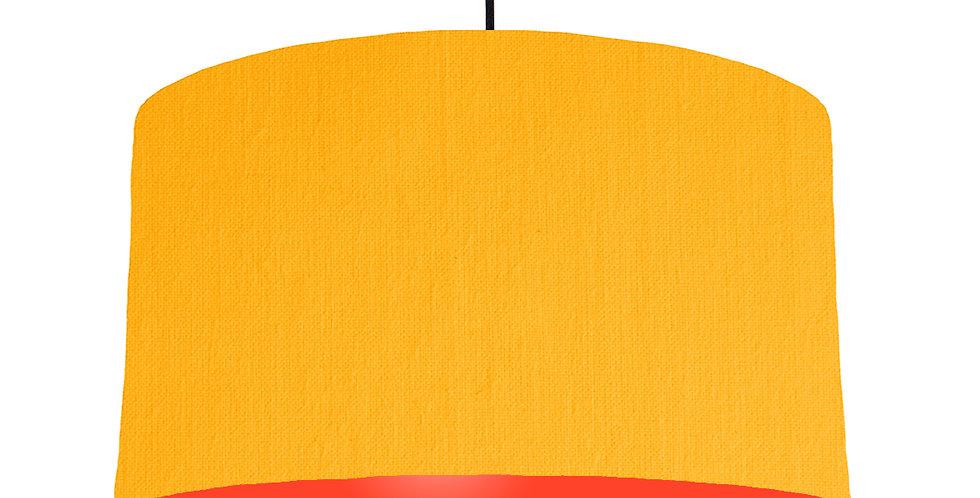 Sunshine & Poppy Red Lampshade - 50cm Wide