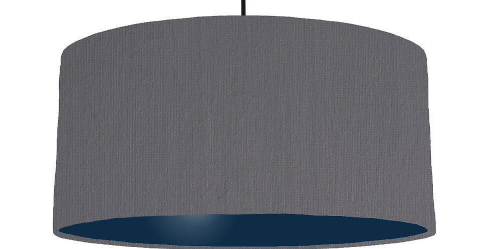 Dark Grey & Navy Lampshade - 60cm Wide