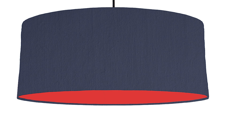 Navy Blue & Poppy Red Lampshade - 70cm Wide