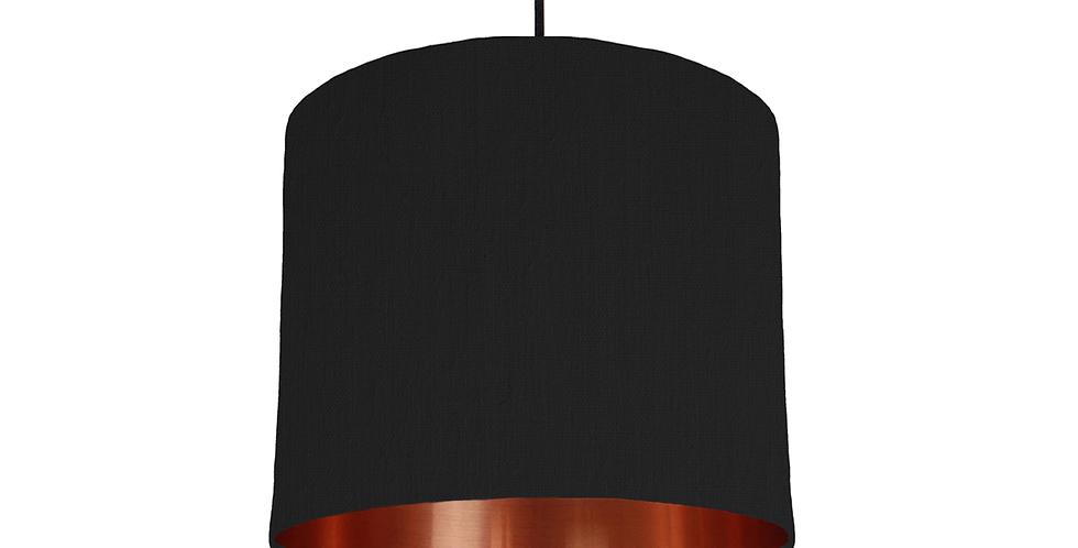 Black & Copper Mirrored Lampshade - 25cm Wide