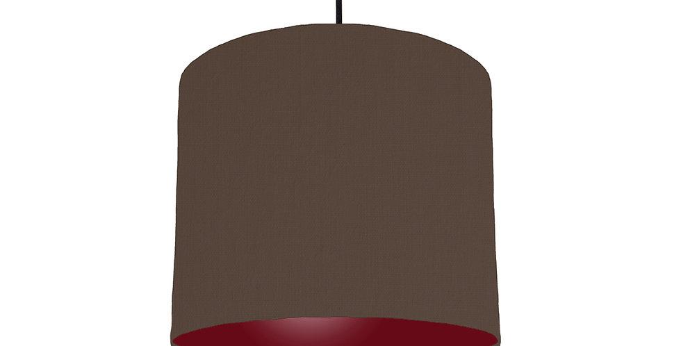 Brown & Burgundy Lampshade - 25cm Wide
