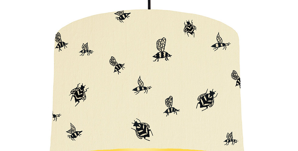 Bumble Bee Lampshade - Natural & Butter Yellow