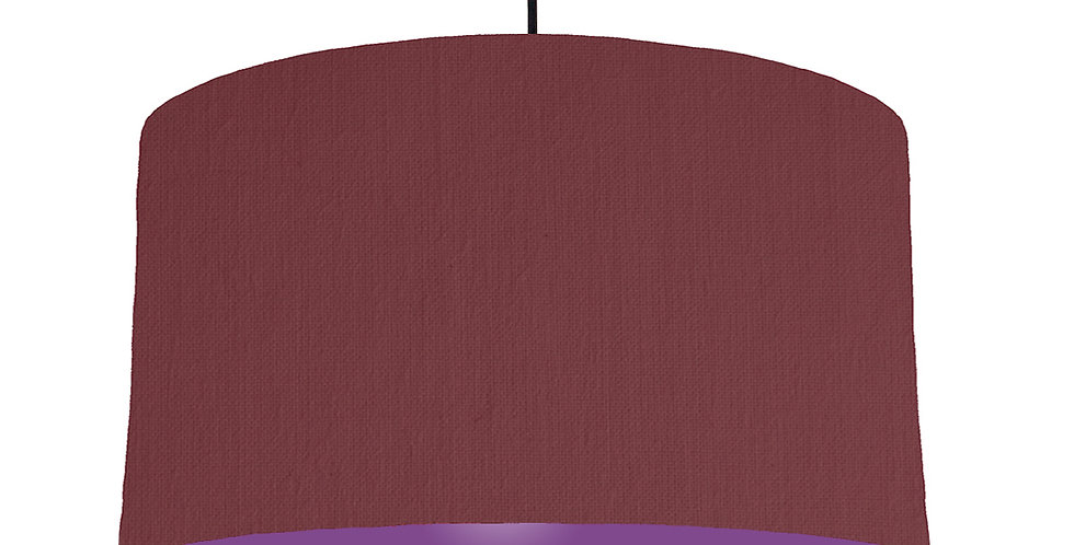 Wine Red & Purple Lampshade - 50cm Wide