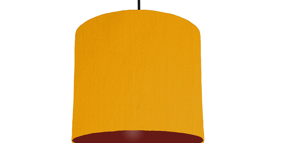 Mustard & Burgundy Lampshade - 25cm Wide