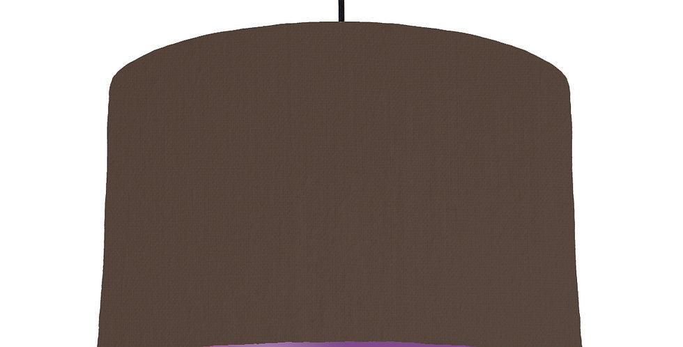 Brown & Purple Lampshade - 40cm Wide