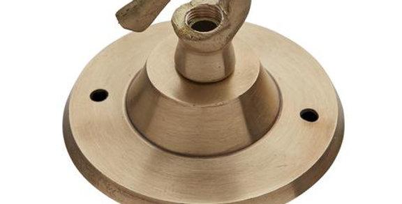 Industville Edison Hook Ceiling Rose - 1 Outlet - Brass