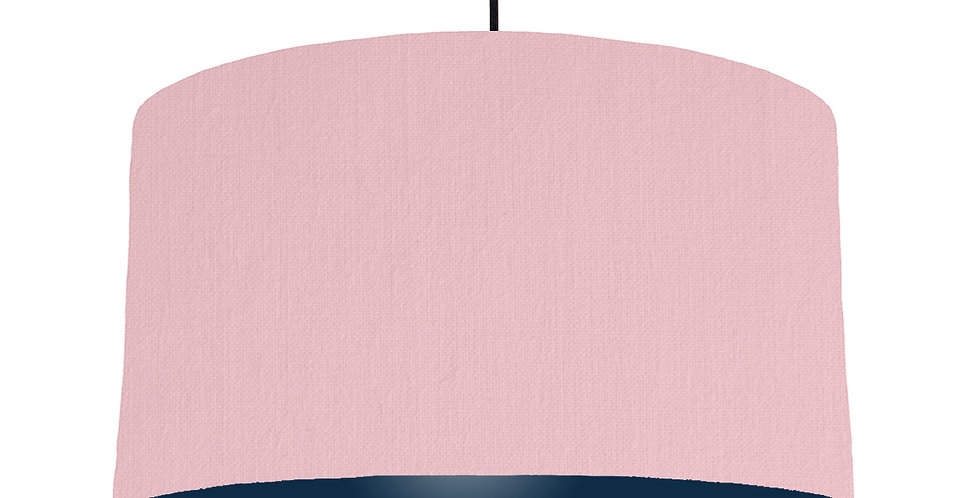 Pink & Navy Lampshade - 50cm Wide