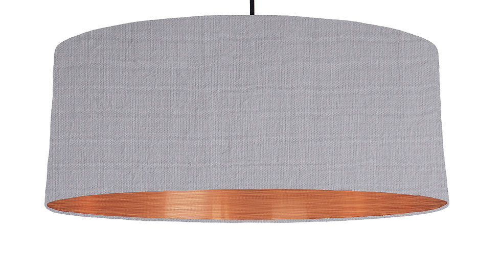 Light Grey & Brushed Copper Lampshade - 70cm Wide
