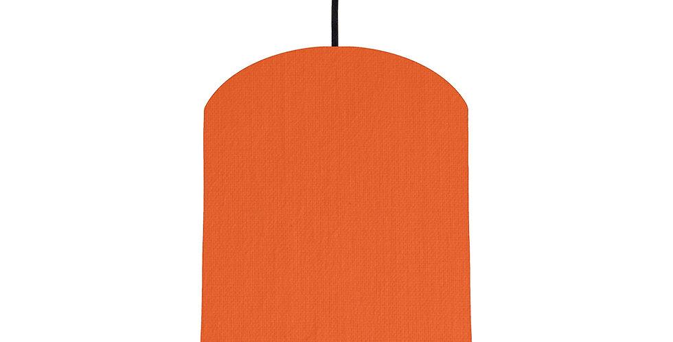 Orange & Poppy Red Lampshade - 20cm Wide