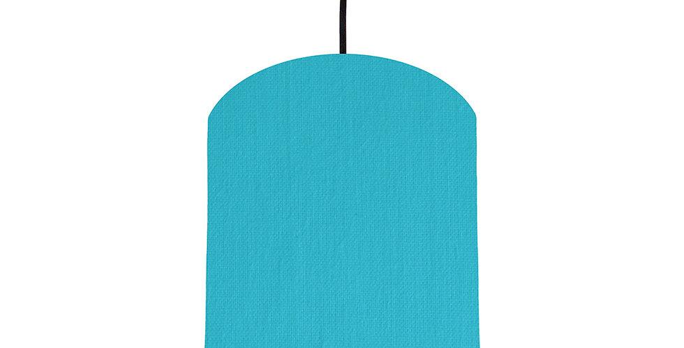 Turquoise & Dark Grey Lampshade - 20cm Wide