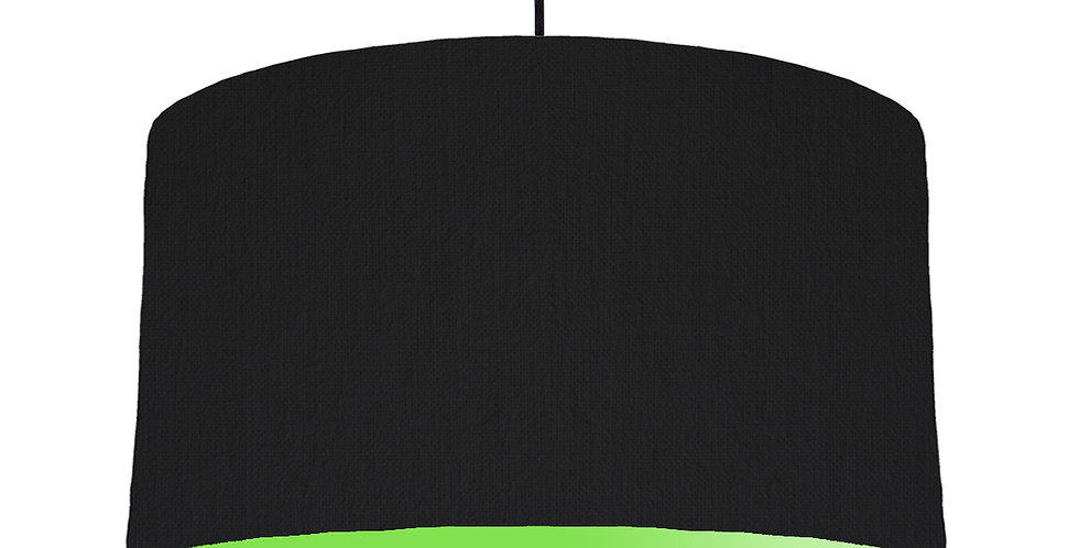 Black & Lime Green Lampshade - 50cm Wide