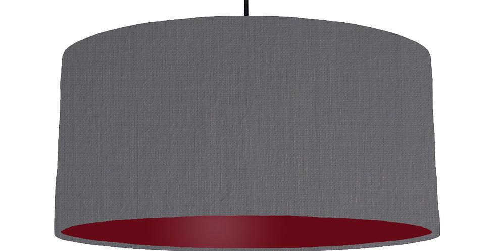 Dark Grey & Burgundy Lampshade - 60cm Wide
