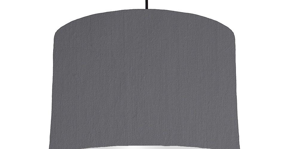 Dark Grey & Light Grey Lampshade - 30cm Wide