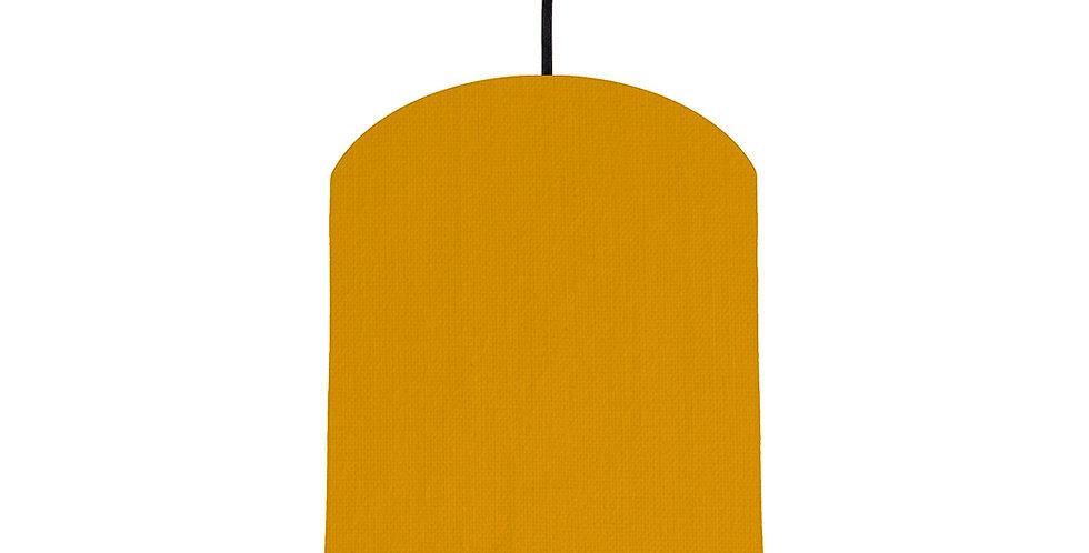 Mustard & Black Lampshade - 20cm Wide
