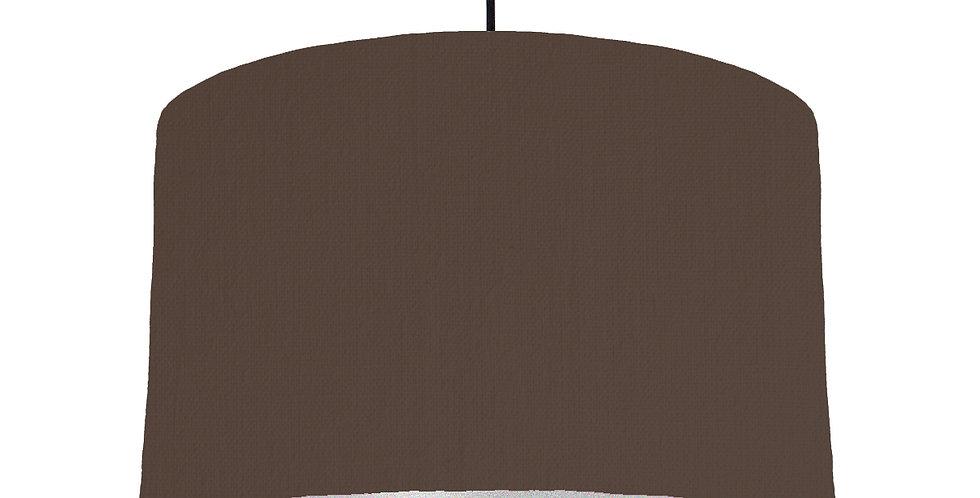 Brown & Silver Matt Lampshade - 40cm Wide