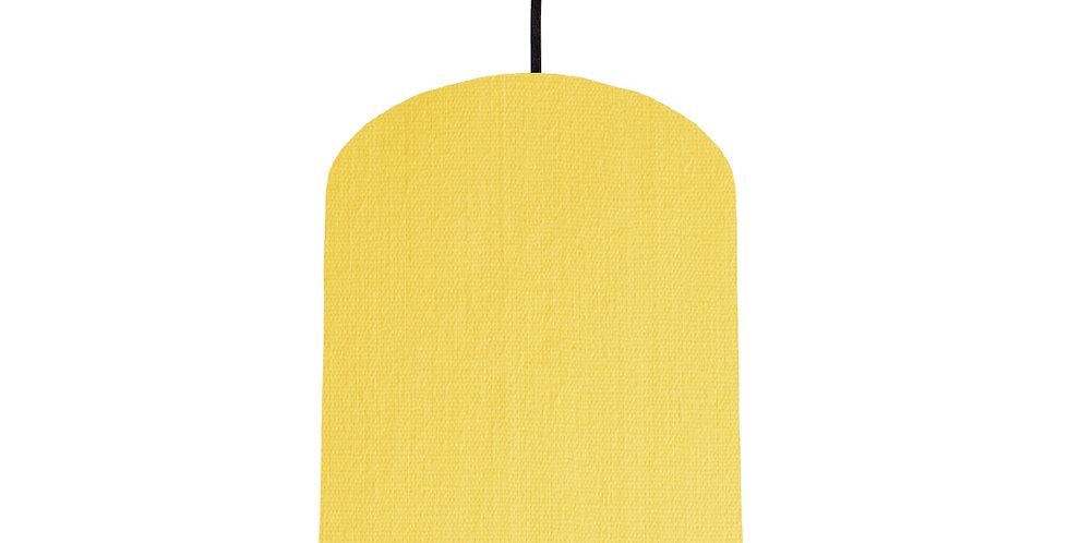 Lemon & Brushed Gold Lampshade - 20cm Wide