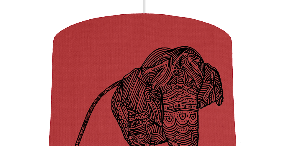 Elephant Shade - Red Fabric