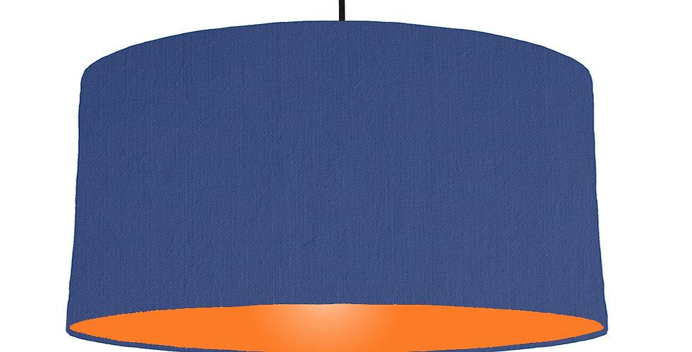 Royal Blue & Orange Lampshade - 60cm Wide